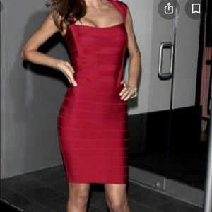 French Connection Red Bandage Dress Size 4